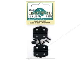 craft & hobbies: Darice Hinges 7/8 in. Curved Black 2 pc.