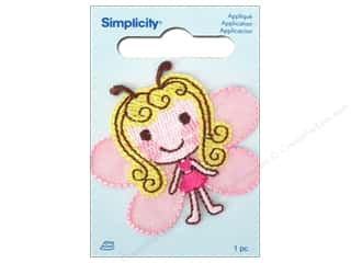 Simplicity Iron On Applique Butterfly Girl