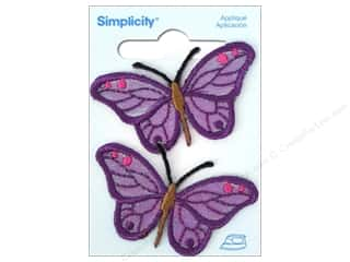 Simplicity Iron On Applique Purple Butterfly