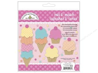 die cuts: Doodlebug Embellishment Sugar Shoppe Craft Kit Cupcakes & Ice Cream Cones