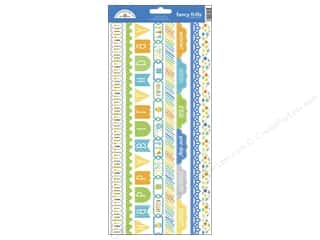 scrapbooking & paper crafts: Doodlebug Stickers Hip Hip Hooray Cardstock Fancy Frills (12 sets)