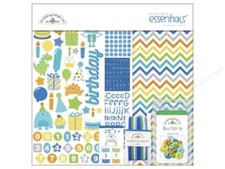 Jean Buttons: Doodlebug Essentials Kit Hip Hip Hooray