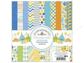 Doodlebug 6 x 6 in. Paper Pad Hip Hip Hooray
