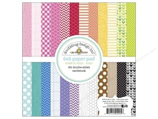 Doodlebug 6 x 6 in. Paper Pad Kraft In Color Color