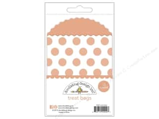 Doodlebug Embellishment Kraft In Color Treat Bags Dots Coral