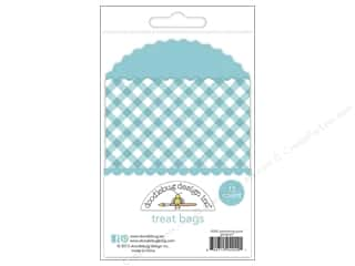 Doodlebug Embellishment Kraft In Color Treat Bags Gingham Swimming Pool