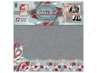 "Clearance Off The Press Template: Hot Off The Press Paper Pack 12""x 12"" Robin's Red"
