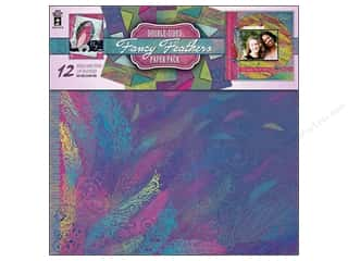 "Clearance Off The Press Template: Hot Off The Press Paper Pack 12""x 12"" Fancy Feathers"