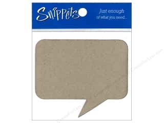 Paper Accents Chipboard Shape Caption 3 pc. Natural
