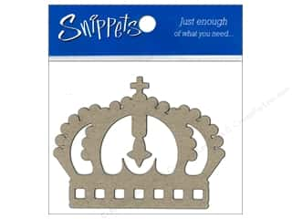 Paper Accents Chipboard Shape Crown 3 pc. Kraft