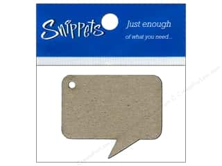 scrapbooking & paper crafts: Paper Accents Chipboard Shape Caption Tag 4 pc. Natural