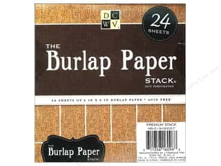 burlap: Die Cuts with a View 6 x 6 in. Paper Stack Burlap
