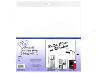die cuts: Paper Accents Adhesive Vinyl 12 x 12 in. Magnetic Dry Erase White 1 pc.