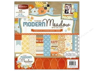 Clearance Die Cuts with a View Stacks: Die Cuts With A View 12 x 12 in. Cardstock Mat Stack Modern Meadow