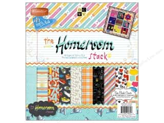 Clearance Die Cuts with a View Stacks: Die Cuts With A View 12 x 12 in. Cardstock Mat Stack Homeroom