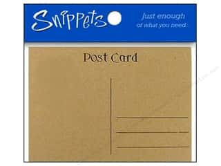scrapbooking & paper crafts: Paper Accents Post Cards 4 1/4 x 5 1/2 in. Brown Bag 5 pc.