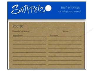Paper Accents Recipe Card 4 x 6 in. Brown Bag 5 pc.