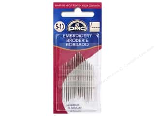 sewing & quilting: DMC Embroidery Needle Sizes 5/10