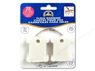 DMC Floss: DMC Floss Bobbins 28 pc. Plastic with Metal Ring