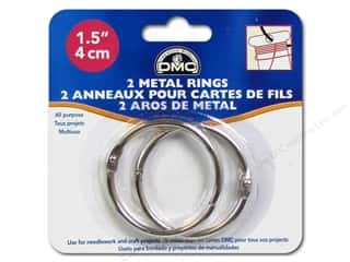 yarn & needlework: DMC Metal Craft Rings 1 1/2 in. 2 pc.