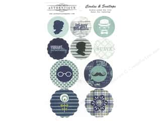 circle die: Authentique Die Cuts Suave Circles & Scallops (12 sets)