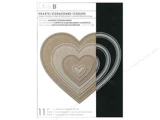 die cuts: Little B Cutting Dies Nesting Hearts