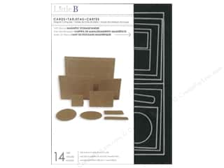 card & envelopes: Little B Cutting Dies Template Cards