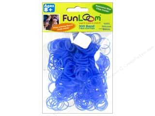 FunLoom Silicone Bands 300 pc. Glow In The Dark Sky Blue