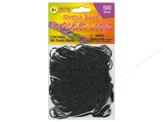 Clearance Pepperell Silkies Bands: Pepperell Stretch Band Bracelet Loops Black 500pc