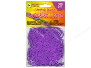 Clearance Pepperell Silkies Bands: Pepperell Stretch Band Bracelet Loops Purple 500pc