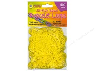 beading & jewelry making supplies: Pepperell Stretch Band Bracelet Loops Yellow 500pc