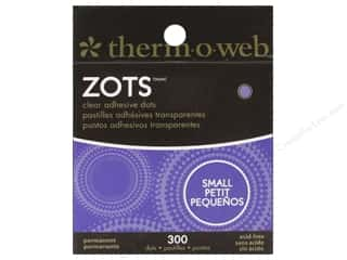 glues, adhesives & tapes: Therm O Web Zots Clear Adhesive Dots 300 pc. 3/16 x 1/64 in. Small