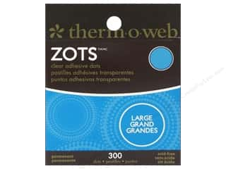 Therm O Web Zots Clear Adhesive Dots 300 pc. 1/2 x 1/64 in. Large