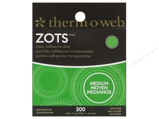glues, adhesives & tapes: Therm O Web Zots Clear Adhesive Dots 300 pc. 3/8 x 1/64 in. Medium