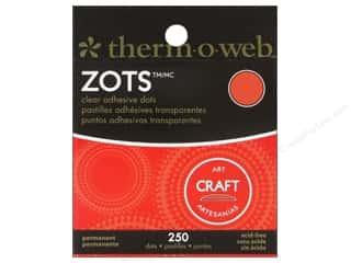 Weekly Specials Therm O Web Zots: Therm O Web Zots Clear Adhesive Dots 250 pc. 1/2 x 1/16 in. Craft Large