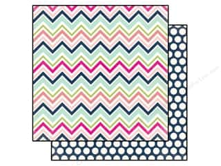 Spring Printed Cardstock: Echo Park 12 x 12 in. Paper Splendid Sunshine Collection Chevron (25 sheets)
