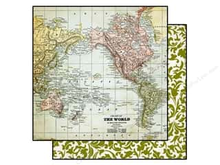 Echo Park Paper Company: Echo Park 12 x 12 in. Paper Getaway Collection Maps (25 sheets)