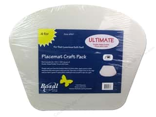 Iron-On Interfacing / Iron-On Stabilizer: Bosal Ultimate 14 1/4 x 18 1/2 in. Circular Table Placemat 4 pc.
