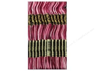 Variegated Floss: DMC Six-Strand Embroidery Floss #99 Variegated Mauve (12 skeins)