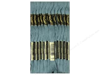 embroidery floss: DMC Six-Strand Embroidery Floss #926 Medium Grey Green (12 skeins)