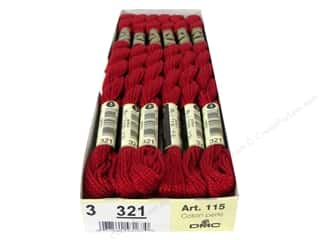yarn & needlework: DMC Pearl Cotton Skein Size 3 #321 Red (12 skeins)