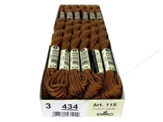 DMC Pearl Cotton Skein Size 3 #434 Light Brown (12 skeins)