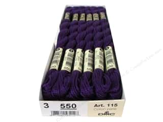 DMC Pearl Cotton Skein Size 3 #550 Very Dark Violet (12 skeins)