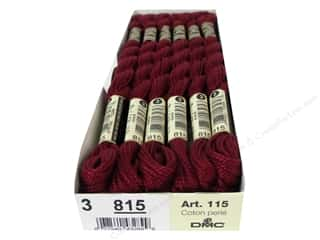 yarn & needlework: DMC Pearl Cotton Skein Size 3 #815 Medium Garnet (12 skeins)
