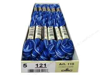 DMC Pearl Cotton Skein Size 5 #121 Variegated Delft Blue (12 skeins)
