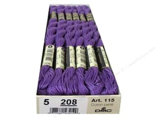 yarn & needlework: DMC Pearl Cotton Skein Size 5 #208 Pansy Lavender (12 skeins)