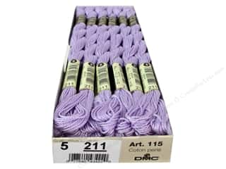 yarn & needlework: DMC Pearl Cotton Skein Size 5 #211 Light Lavender (12 skeins)