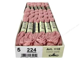 yarn & needlework: DMC Pearl Cotton Skein Size 5 #224 Light Dusty Pink (12 skeins)
