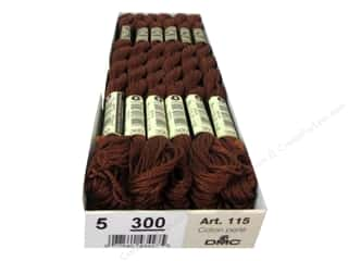 yarn & needlework: DMC Pearl Cotton Skein Size 5 #300 Mahogany (12 skeins)