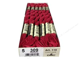 yarn & needlework: DMC Pearl Cotton Skein Size 5 #309 Dark Rose (12 skeins)